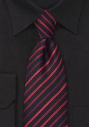 Schwarze XXL-Krawatte rote Linien günstig kaufen