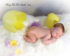 Newborn Easter Photo | Baby in Giant Easter Egg | Sleeping Just Hatched| Portrait Poses