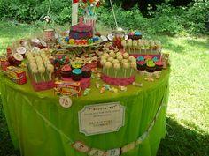 Carnival wedding theme desert table
