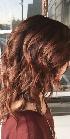 Dark Reds Browns Styled Curled Layers