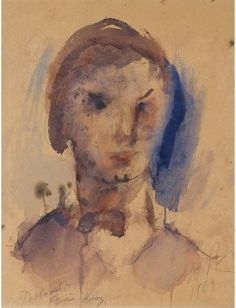 View MRS KUNZE By Georgios Bouzianis; gouache, watercolour and pencil on paper; 40 by by Signed; Access more artwork lots and estimated & realized auction prices on MutualArt. Figurative Art, Gouache, Impressionist, Modern Art, Watercolor, Fine Art, Portrait, Artwork, Prints