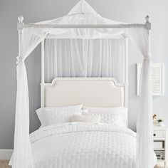 Enhance your bed with a dose of drama. Our ever-enchanting gold canopy, made from delicate nylon tulle, is the perfect shimmery accent for your sleeping space. Tulle Canopy, Canopy Bed Curtains, Canopies, Curtains Around Bed, Teen Curtains, Teen Canopy Bed, Girls Bedroom Canopy, Little Girl Canopy Bed, Bedroom Ideas