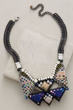 Nocturne Giza Bib Necklace #anthrofave