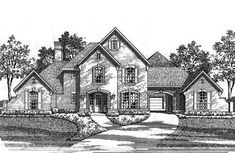 Classic French Country Estate Home - 15410HN | 1st Floor Master Suite, Butler Walk-in Pantry, Den-Office-Library-Study, European, French Country, Jack & Jill Bath, Luxury, MBR Sitting Area, Media-Game-Home Theater, Multi Stairs to 2nd Floor, PDF, Traditional | Architectural Designs