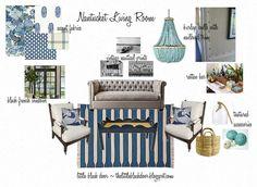 """A big preppy party""  --  Nantucket Style - Little Black Door  --  My Crafty Home Life"