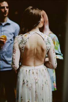 A Floral Needle and Thread Dress for an Elegant Devonshire Terrace Wedding