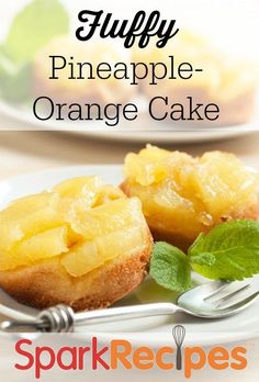 Pineapple-Orange Cake for Passover. This sounds SO good! | via @SparkPeople #Passover #dessert #cake