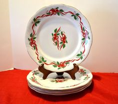 "Set of 4 Formalities/Baum Bro. 10.5"" Plates ""Victorian Holiday"" NIB"