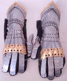 Gothic Knight Armour Gloves Gauntlets Replica Antique Medieval Armour   eBay