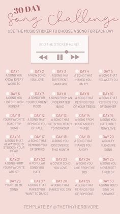 Instagram Story Questions, Story Instagram, Instagram Story Template, 30 Day Music Challenge, Thigh Challenge, Plank Challenge, Instagram Games, Free Instagram, Instagram Challenge