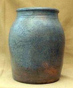 Vintage salt glazed stoneware crock Tennessee..love the patina
