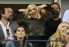 There's no doubt she's having a good time. Gwen Stefani signs her enthusiasm at the 2014 US Open on Sept. 4 in New York