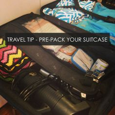 Pre-Pack Your Suitcase