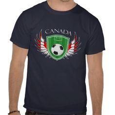 Canada Flag Soccer Field Football Fifa World Cup 2014 T-Shirt