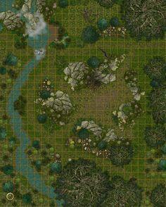 Waterfall river rough forest hills scenery battle map e50acbaa0e383d26559bd28341c25058.jpg (236×294)