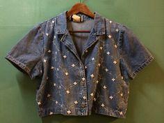 デザインジャケット(¥1400+TAX)入荷!!花柄の刺繍