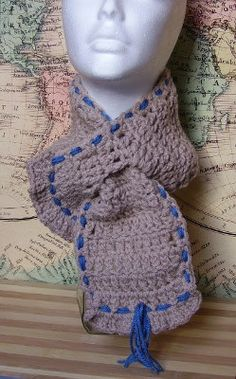 Cozy Short Scarf Handmade Crochet by AtelierRaniera on Etsy, $25.00