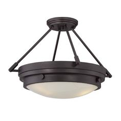 Aralene 3-Light Semi-Flush Mount Semi Flush Lighting, Flush Ceiling Lights, Flush Mount Ceiling, Ceiling Light Fixtures, Ceiling Lighting, Chandelier Lighting, Lucerne, Multi Luminaire, Bronzer