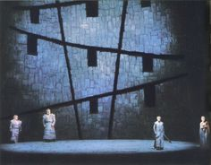 """"""" Das Rheingold """" 2.Bild 1965 Wieland Wagner Bühnenphoto"""
