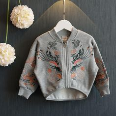 #Popreal #fashion #cardigan #girl #girlclothing #fashion #toddler #kids Autumn needs a Vintage Embroidery Cardigan! Size are available, for 1-9 years old fashion girl~