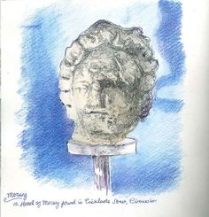 Mercury, head of Mercury found in Cricklade Street Cirencester  www.coriniummuseum.org