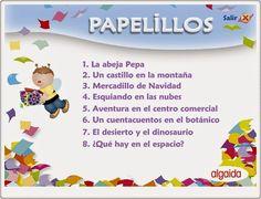 """Cuentos del proyecto didáctico """"Papelillos"""" para Educación Infantil de 5 años, de Editorial Algaida, en la web http://primerodecarlos.com."""