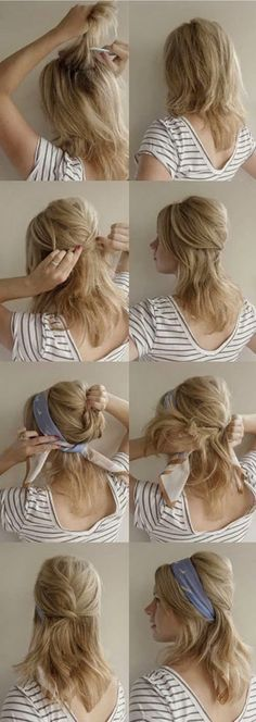Hair + Scarf @nikki striefler Lanser Here is how you could do it with you hair