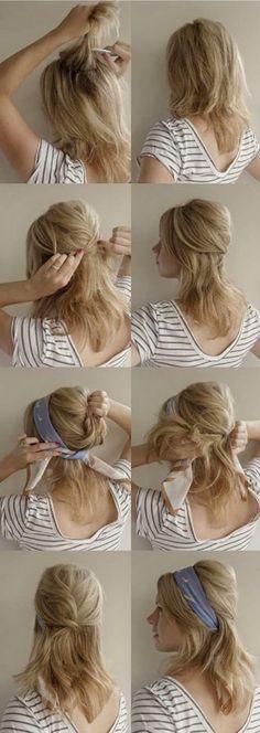 Hair + Spring Scarves