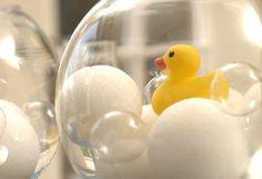 "Use styrofoam balls for ""bubbles"""