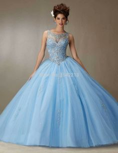 Light Sky Blue Pink Ball Gown Quinceanera Dress Heavy Beaded Sexy Backless Style Girls Sweet 16 Prom Gowns-in Quinceanera Dresses from Weddings & Events on Aliexpress.com | Alibaba Group