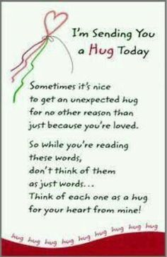 Quotes Discover I& sending you a BIG HUG today with lots of love and blessings too! Special Friend Quotes Friend Poems Sister Quotes Daughter Quotes Best Friend Quotes Special Friends Hug Quotes Life Quotes Thank You Quotes Special Friend Quotes, Friend Poems, Sister Quotes, Daughter Quotes, Best Friend Quotes, Special Friends, Sister Poems, Hug Quotes, Life Quotes