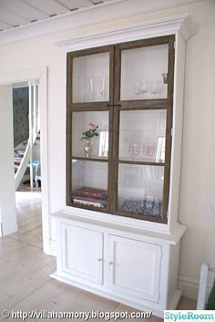 Cabinet made around an old window frame <3