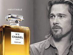 O ator Brad Pitt é o novo rosto da fragrância Chanel No. 5 . O filme de 30 segundos também divulga o novo slogan do perfume, Inevitable. A peça em preto e