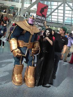 Buen cosplay del personaje de marvel thanos http://frikinianos.es/la-llegada-de-thanos/ #thanos #cosplay #marvel #comics