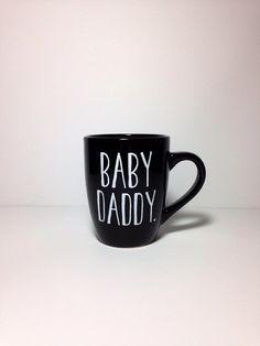 Baby Daddy. coffee mug by thelittlevinylsaur on Etsy