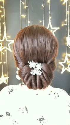 Simple tutorial bridal hair inspiration check out more videos and pictures click and ! Bun Hairstyles For Long Hair, Braids For Long Hair, Little Girl Hairstyles, Braided Hairstyles, Black Braids, School Hairstyles, Simple Hairstyle Video, Natural Hairstyles, Cute Kids Hairstyles