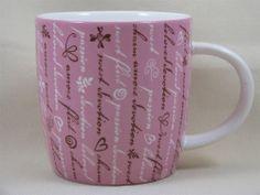 Starbucks 2006 Holiday Valentine Coffee Mug Cup Pink Flirt Passion Beloved 16oz