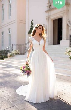 Casual long-sleeved wedding dress - Stella York wedding dresses - For wedding . - Casual long-sleeved wedding dress – Stella York wedding dresses – For wedding – Casual long-s - Wedding Dress Trends, Long Wedding Dresses, Dress Wedding, Wedding Dresses Stella York, Wedding Blog, Ling Sleeve Wedding Dress, Vintage Boho Wedding Dress, Wedding Outfits, Wedding Ideas