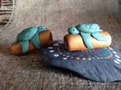 Sea turtle dread bead by thisthatandthese on Etsy, $7.00