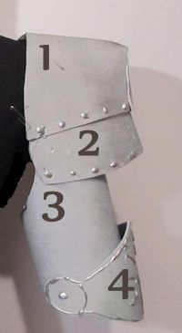 How to Make Foam Armor Shoulders, Biceps and Elbows