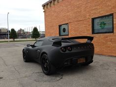 Lotus Exige Final Edition in matte black