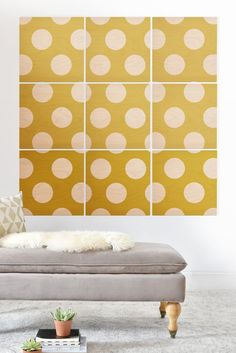 Allyson Johnson Brightest Chartreuse Wood Wall Mural | DENY Designs Home Accessories