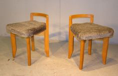 Rubercrin Chairs by Guillerme & Chambron for Votre Maison, 1960s, Set of 2 5