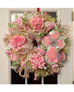 Pink cross wreath | CraftOutlet.com Photo Contest - CraftOutlet.com