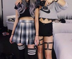 Bff Girls, Bad Girls Club, Grunge Fashion, Punk Fashion, School Dresses, Business Dresses, Dress Suits, Summer Looks, Outfit Sets
