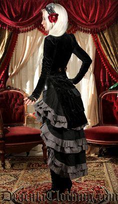 Black Openbust Tailcoat - Ladies Clothing