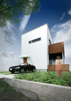 슬라이더 하우스 - LDHOMES ® - 심플 디자인 주택 신축 주문 주택 건축 설계 사무소 (고베 · 효고 · 오사카 · 도쿄)