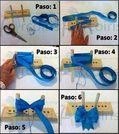 6 ribbon woven headband instructions