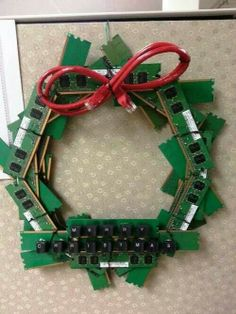 Recycled Electronics Wreath