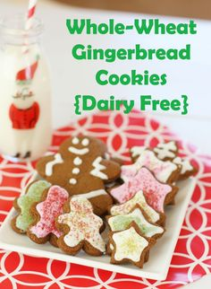 whole wheat gingerbread cookies dairy free more cookies dairy healthy ...